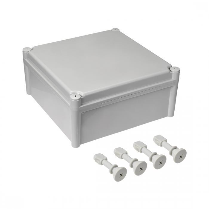 ソウテン 防塵 IP65 ジャンクションボックス ABS ラバー 取り付け グレー 1個入り