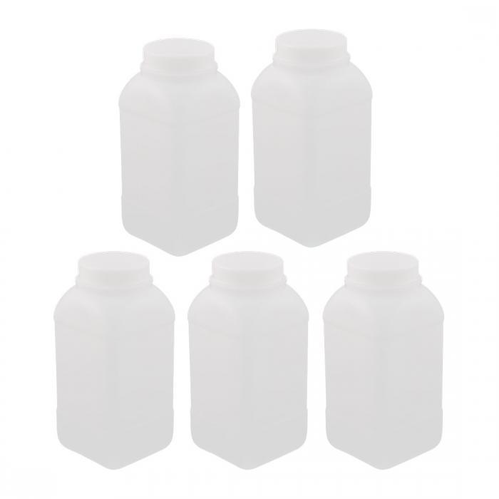 ソウテン 試薬ボトル プラスチック材質 容量1000ml シーリングボトル スクエア試薬ボトル 5個入り