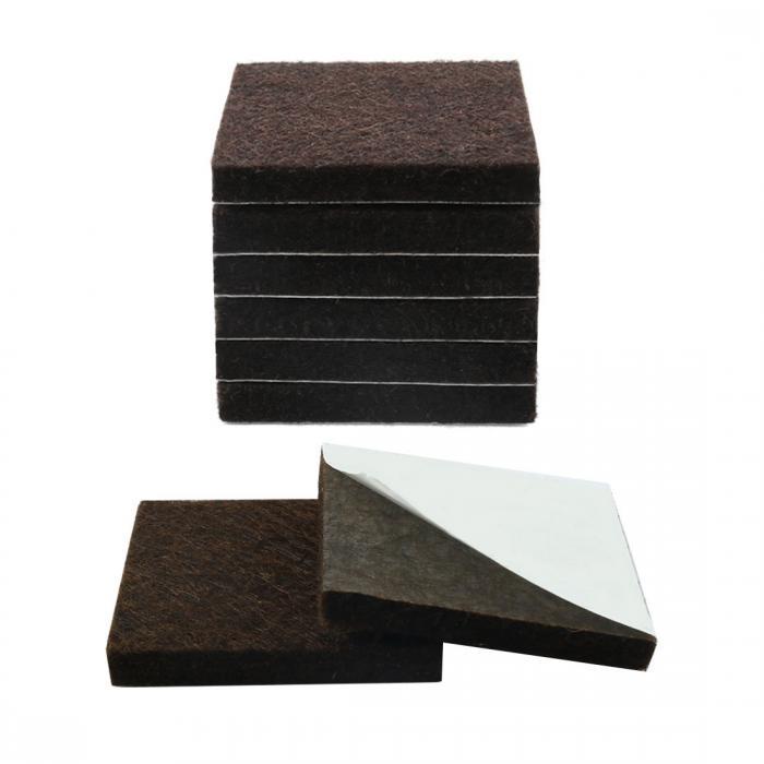 ソウテン uxcell フェルト 家具足のパッド 正方形 自己接着 レッグ フィート フロアのプロテクター 保護用 8個入り 15日発送予定