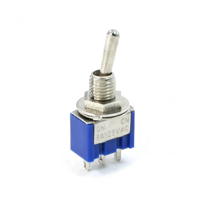 uxcell toggle switch mini-toggle switch blue 3 pin SPDT 2 position AC125V 6A