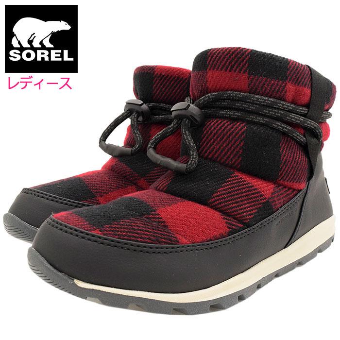 送料無料 10%OFF レディース 新作続 ソレル ブーツ SOREL WHITNEY SHORT Red Dahlia WOMENS 女性用 ふるさと割 ウィットニー ショート ウィメンズ レッド スノー Sorel 靴 チェック 赤 soreru Ladys ウーマンズ NL3439-660 ウィンター Boots Boot 防水