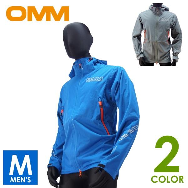 OMM オリジナルマウンテンマラソン Kamleika RaceJacket II メンズ フルジップパーカー/防水浸透性ソフトシェル トレイルランニング ウェア OC035