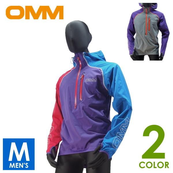 OMM オリジナルマウンテンマラソン Kamleika Race Smock II メンズ ハーフジップ ウインド フード付ジャケット トレイルランニング ウェア OC036
