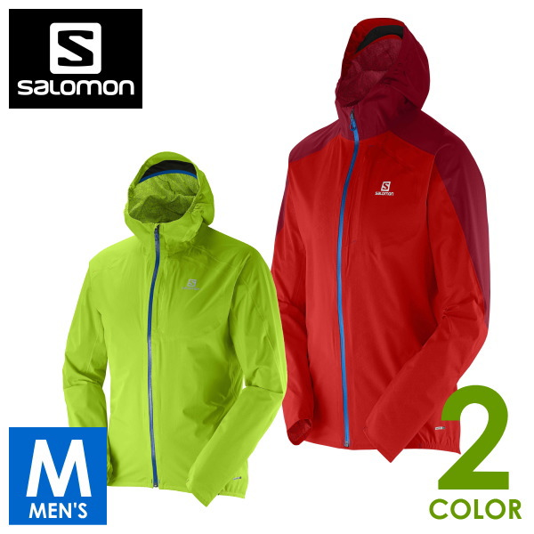【サロモン/SALOMON】JP BONATTI WP JACKET M メンズ 防水フルジップ パーカー ジャケット トレイルランニング L37625900