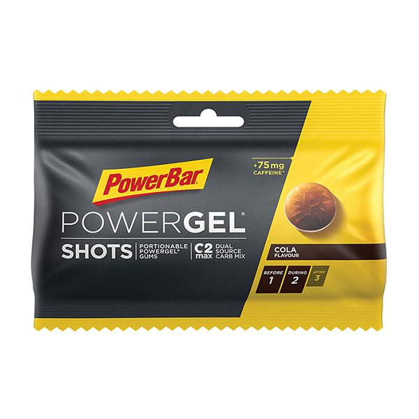 PowerBar パワーバー PowerGel Shots パワージェル・ショッツ コーラ グミ5粒でパワージェル1本分のエネルギー 補給食 行動食 トレイルランニング