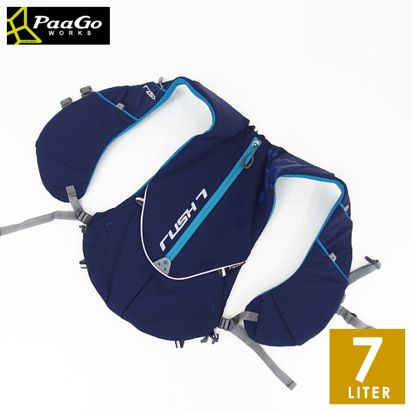 PaaGo WORKS パーゴワークス RUSH7 ラッシュ7 メンズ・レディース リュック・ザック・バックパック(7L) トレイルランニング リュックサック バッグ