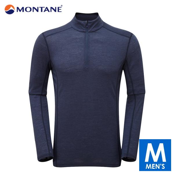 【MONTANE/モンテイン】ハーフジップ長袖シャツ プリミノ140 ジップネック メンズ トレイルランニング