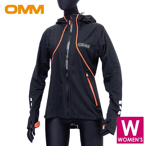 OMM オリジナルマウンテンマラソン Kamleika Jacket W レディース フルジップ防水透湿ジャケット トレイルランニング ウェア OC012BK