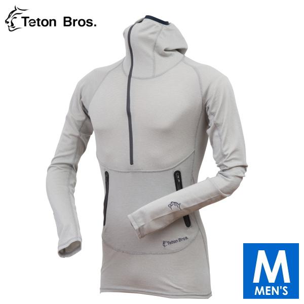 ティートンブロス メンズ ハーフジップ フーディ長袖シャツ トレイルランニング・ウェア Teton Bros Power Wool Lite Hoody TB1733101 【トレイルラン/トレラン/ランニング/マラソン/トレッキング/ウェア】