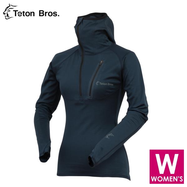 ティートンブロス レディース ポラーテックパワーウール ロングシャツ トレイルランニング・ウェア Teton Bros WS Power Wool MW Hoody TB18125021 【トレイルラン/トレラン/ランニング/マラソン/トレッキング/ウェア】