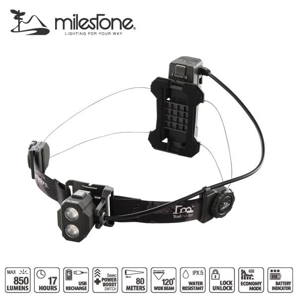 milestone(マイルストーン) MS‐F1 Trailmaster(トレイルマスター) LEDヘッドライト マイルストーンの最新モデル トレイルランニング