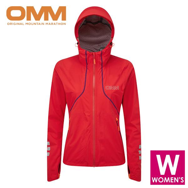 OMM オリジナルマウンテンマラソン Kamleika Jacket (w) レディース フルジップ フーディー ジャケット トレイルランニング ウェア OC095RED