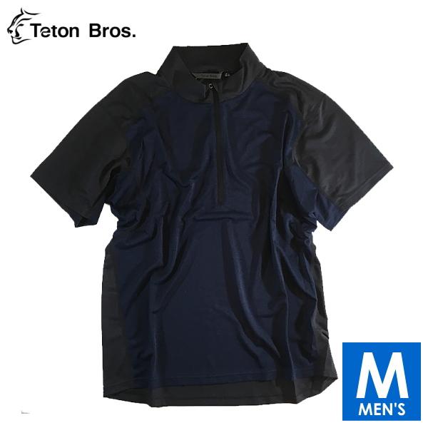 ティートンブロス メンズ ハーフジップ半袖シャツ トレイルランニング・ウェア Teton Bros PPP Half Zip S/S TB18135030 【トレイルラン/トレラン/ランニング/マラソン/トレッキング/ウェア】