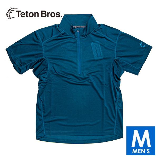 ティートンブロス メンズ ハーフジップ ドライ半袖Tシャツ トレイルランニング・ウェア Teton Bros PPP Half Zip S/S TB19140020 【トレイルラン/トレラン/ランニング/マラソン/トレッキング/ウェア】