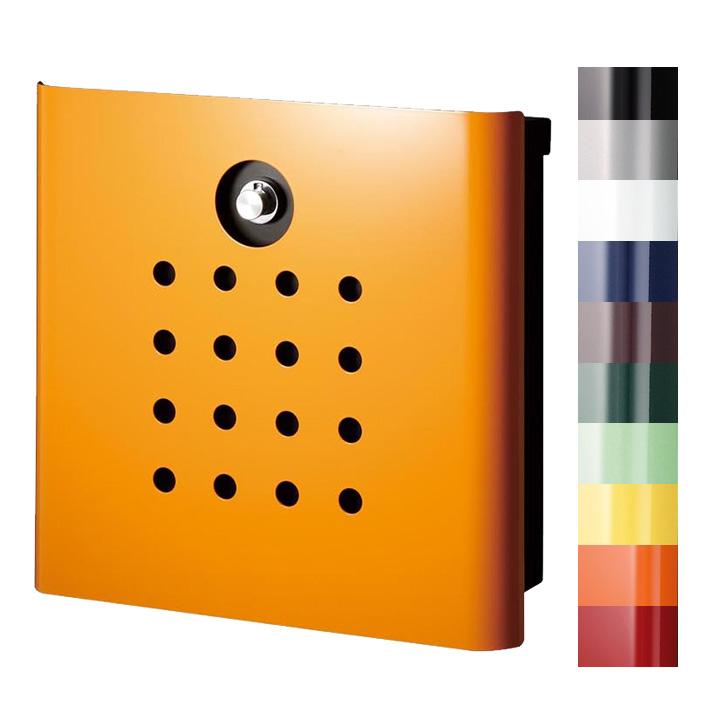 【ポスト】ヴァリオ ネオ パンチ「壁掛け VARIO NEO punch 鍵あり」郵便ポストヴァリオシリーズ。パンチ穴のようなドットデザインは、可愛さをちょこっとプラス♪ダイヤル錠 鍵付き【郵便受け】【送料無料】