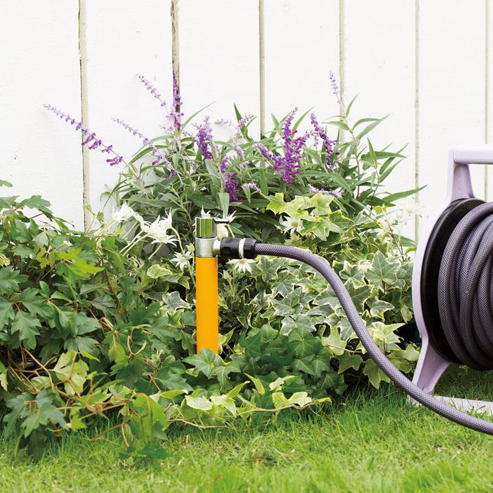 【ホース接続専用の立水栓】【水栓柱】「ジラーレS 散水用水栓柱」