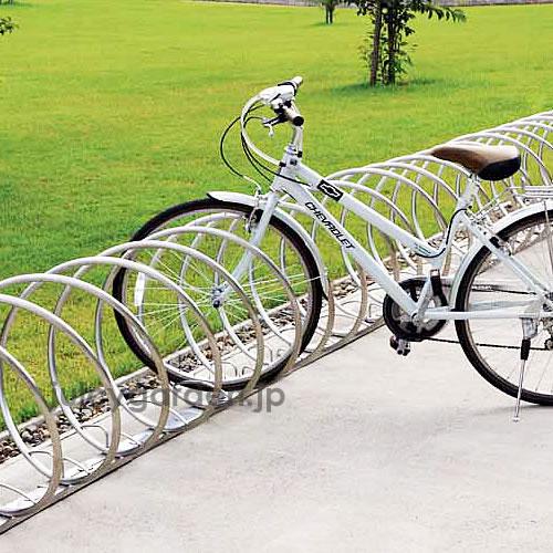 何台でも連結可能な駐輪スタンド「自転車スタンド サイクルレスター D-NA CYタイプ」【1ユニット2台】 螺旋状 サイクルスタンド