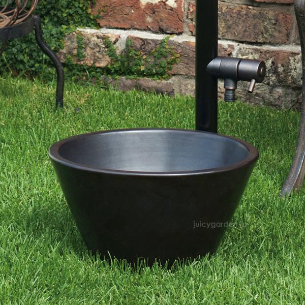 【水鉢】【ガーデンパン】ミニサイズのガーデン水受け「ガーデンポット ブラック」水受け【送料無料】