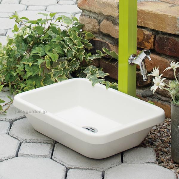 【水鉢】【ガーデンパン】シンプルな四角のガーデンパン「スクエアパン」水受け【送料無料】