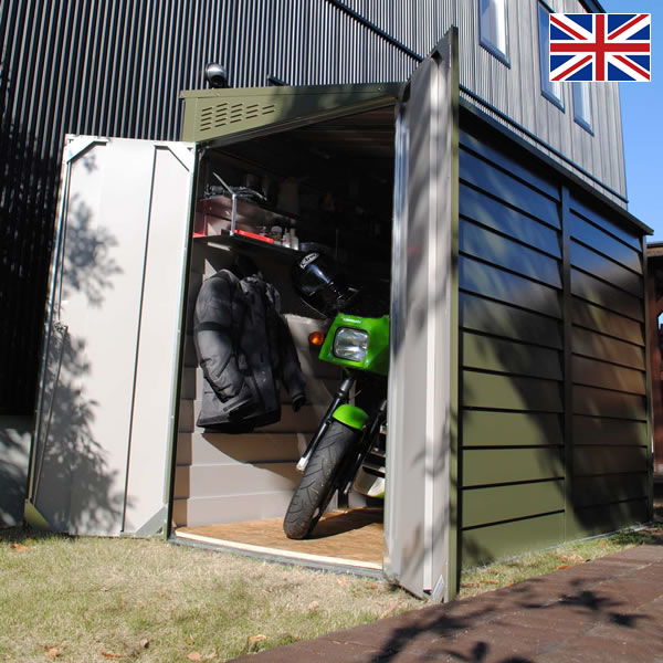 It is a maintenance free GALVALUME outdoor storage sheds made in United Kingdom! Bicycle parking to the trash in the yard & sotoyashop-ex | Rakuten Global Market: Outdoor storage sheds ...