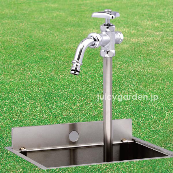 【送料無料】【立水栓】【散水栓】【寒冷地対応】「伸縮式立水栓 D-EN デン 呼び長さ0.4M」
