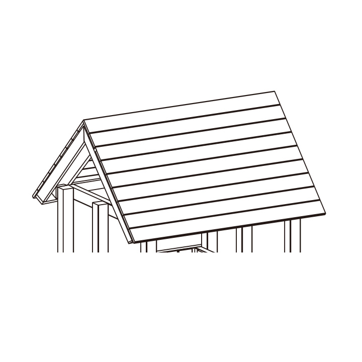 DIY 屋外 家庭用遊具作成用パーツ 「はらっぱギャング はらっぱBASEオプション 木製屋根」 【送料無料対象外】 自作