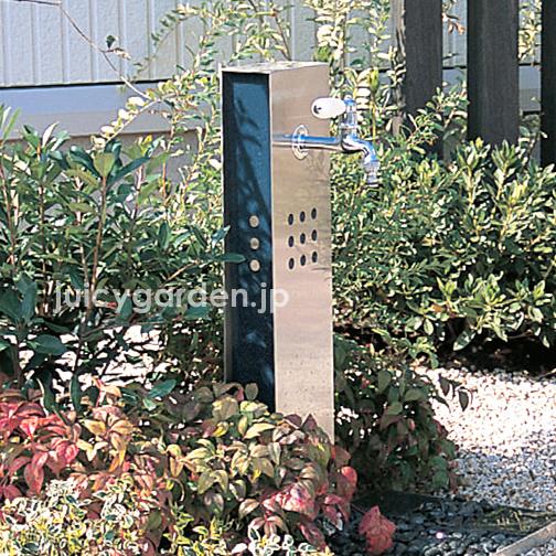"""在作为高级的日式摩登的空间适合的立水栓""""水凛台灯""""栓杆蛇语气日式院子外部不锈钢日本庭园自来水"""