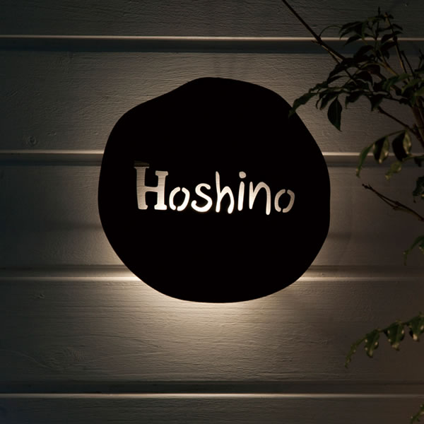 With nameplate to LED lighting/led lights / iron nameplate style  handwritten loose round cut out cute original font' vintage billboard sign  LED