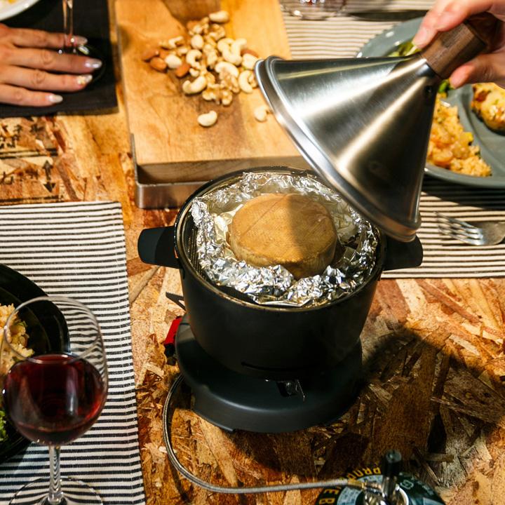 卓上燻製器 スモークチップ スモークウッド チーズ ベーコン ナッツ類 燻製料理 おつまみ作り 「APELUCA アペルカ テーブルトップスモーカー」【送料無料】