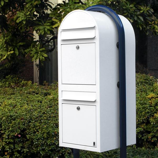 ポスト 二世帯「Bobi社製 郵便ポスト ボビデュオ」【送料無料】2世帯 集合住宅 前入れ前出し 郵便受け 北欧フィンランドの郵便ポスト