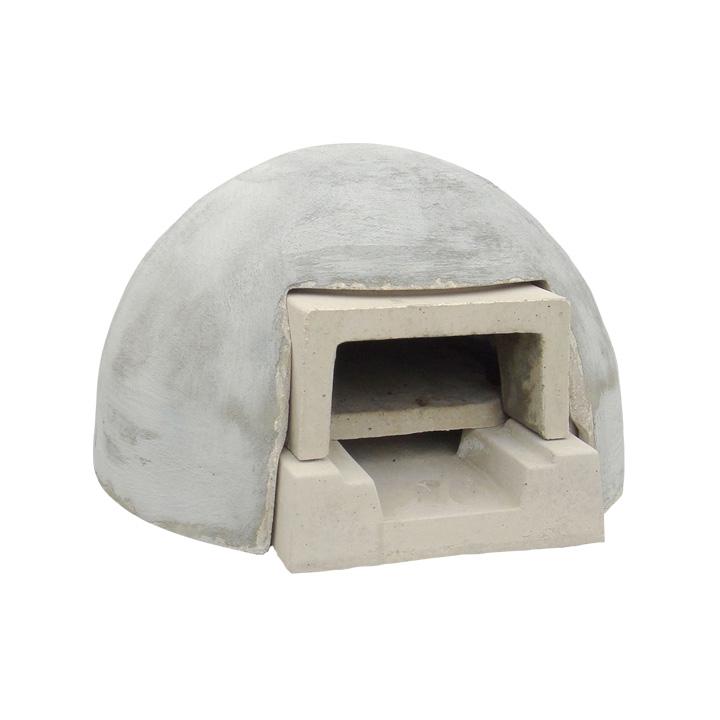 ピザ窯 パン ガーデングリル 高温調理 ドーム型 「家庭用石窯 プチキルン カバーセット コンクリート ※本体+カバー」 【送料無料対象外】 炭使用可能