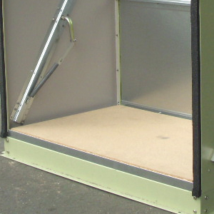 【送料無料対象外】屋外収納庫・物置<中型・小型>、メタルシェッドオプション ウッドフロア<スタンダードサイクル用>