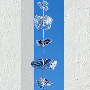 アクセサリ アクセント 壁飾り 塀・門柱スリット ガラスオブジェ「グラストレイン 80cm」【送料無料】エクステリア 外構 装飾 建材
