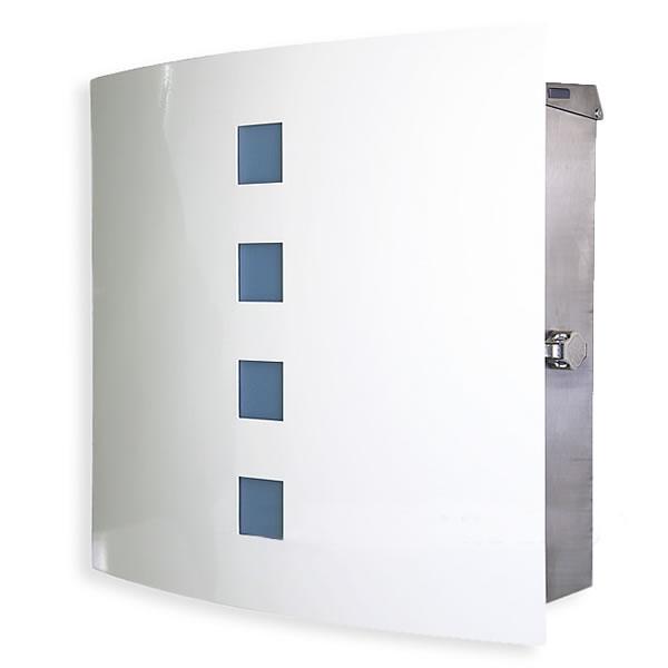 【ポスト 壁付け】壁掛け 「マックスノブロック Cherbourg:シェルブール 壁掛け」ペールブルーの小窓が女性に人気です。【郵便受け】【郵便ポスト】【POST】【送料無料】