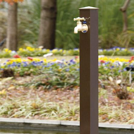 今までより30センチ長くなりました!カラーアルミ立水栓ロング 丈夫な日本製の【蛇口は別売り】水栓柱 ガーデニング 庭 エクステリア 屋外 外構 水道 【送料無料】