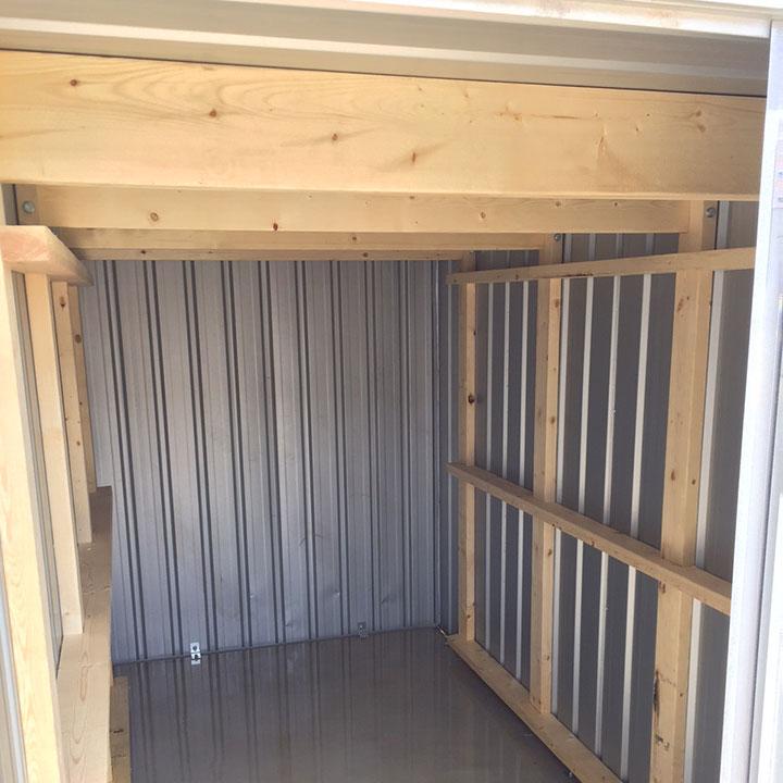 【送料別】「ユーロ物置 バイシクルキューブ用 木製補強キット(1セット4本組)」物置き ガレージ 庭 ガーデン 収納庫 格納庫 倉庫