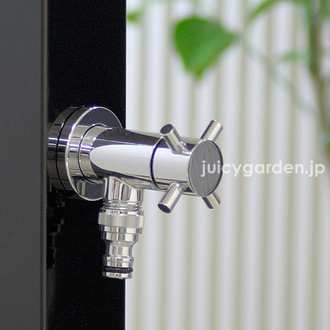 補助蛇口に向いている小さめの蛇口 「BEAU(ボー)ホースアダプター付き」 蛇口 ホース用 ガーデン、庭、エクステリア、屋外用【送料無料】