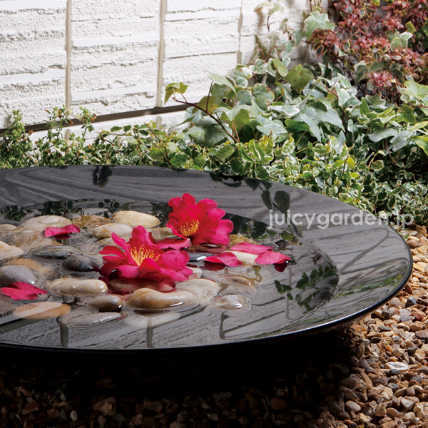 Stone Water Bowls: Black Minuet Of Faucet Water By Both Japanese Style Garden  Water Basin. The Tsukubai Talus Black Granite Tea Garden Water Tap With