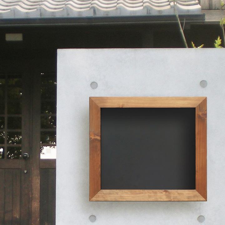 郵便ポスト 木製 木枠 黒板風「Black board ブラックボード 埋め込み型ポスト」【送料無料】エコアコールウッド 郵便受け