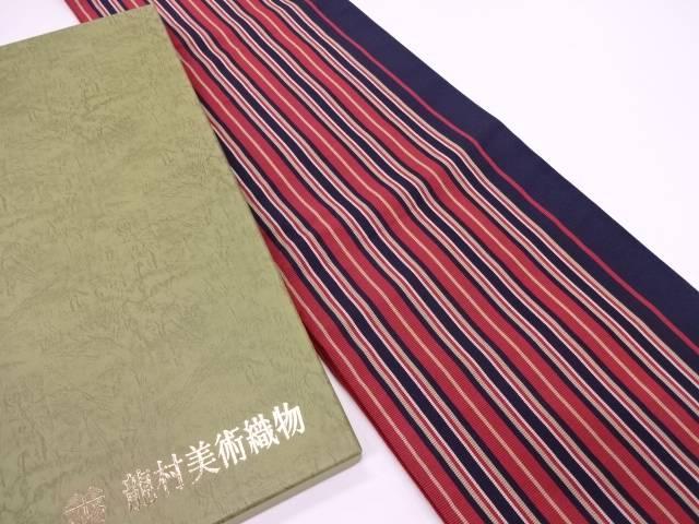宗sou 龍村美術織物 たつむら製 あけぼの間道袋帯【q新品】【着】