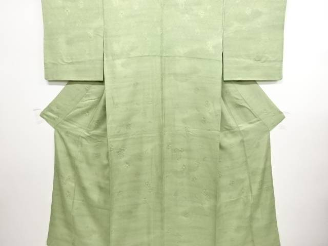 花亀甲模様織出暈し一つ紋色無地着物【リサイクル】【中古】【着】 宗sou