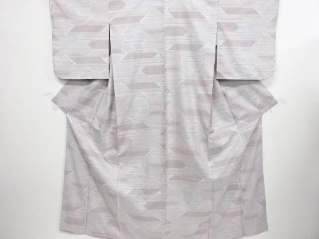 横段に更紗模様織り出し本場白大島紬着物(5マルキ)【リサイクル】【中古】【着】 宗sou