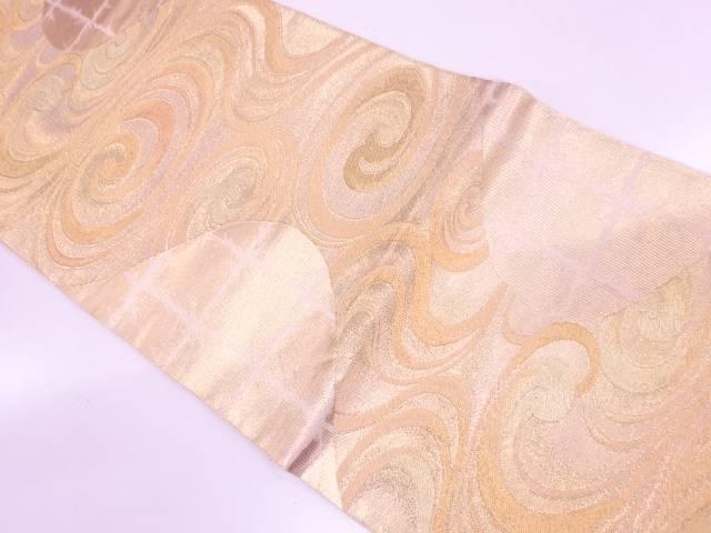 川島織物製 流水模様織出し袋帯【リサイクル】【中古】【着】 宗sou