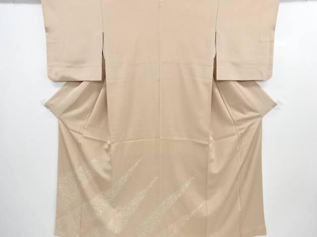 斜め縞にのり散らし模様一つ紋色留袖【リサイクル】【中古】【着】 宗sou