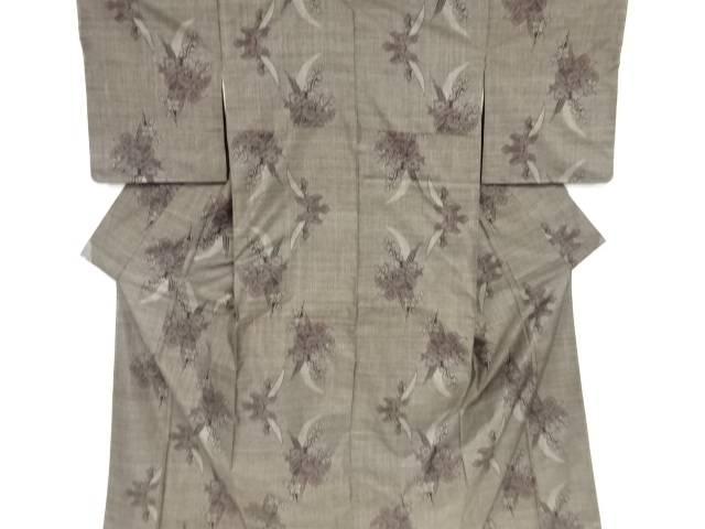 未使用品 仕立て上がり 菖蒲模様織り出し本場泥大島紬着物(9マルキ)【着】 宗sou