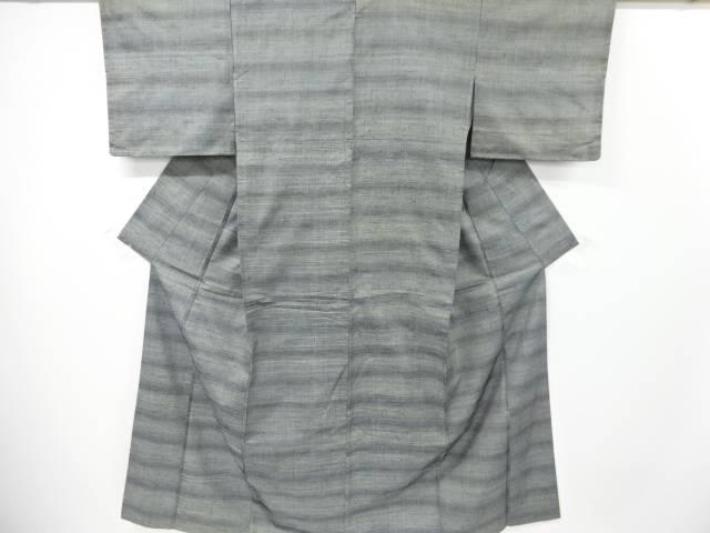創作手織り真綿紬横段織り出し着物【リサイクル】【中古】【着】 宗sou