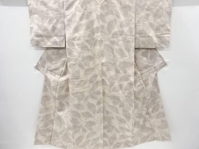 枝葉模様織り出し十日町紬着物【リサイクル】【中古】【着】 宗sou