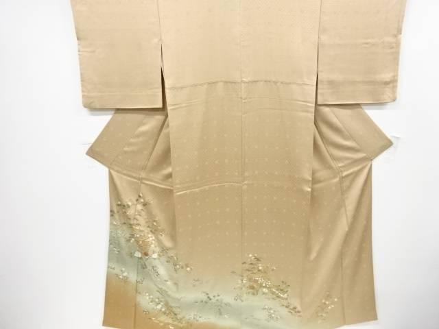 金彩友禅寺院風景に松竹梅鳳凰模様一つ紋色留袖【リサイクル】【中古】【着】 宗sou