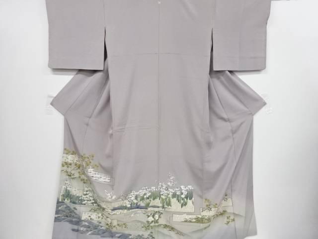四季草花に群鶴模様一つ紋色留袖【リサイクル】【中古】【着】 宗sou