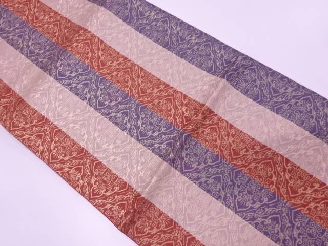 茶道具 茶道 着物 襷に花模様織出し袋帯 リサイクル 着 宗sou 出色 中古 70%OFFアウトレット
